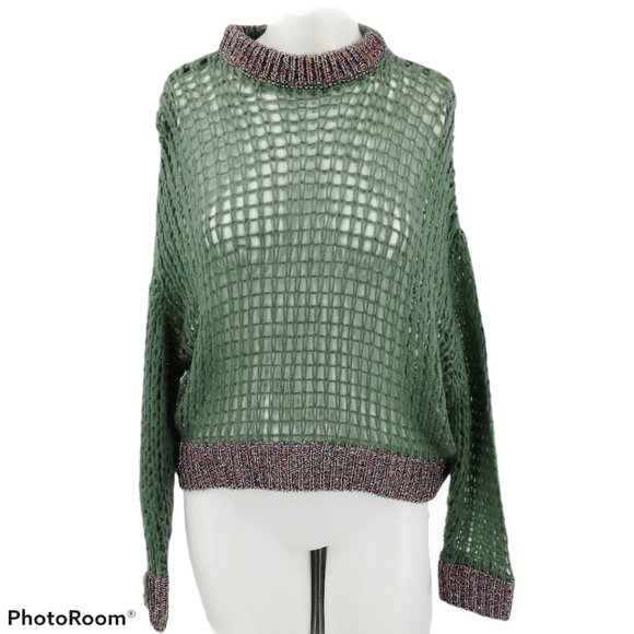 Absolutely Creative Worldwide Cropped Sweater XS